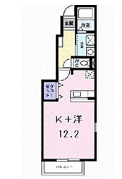 JR山陽本線 東加古川駅 徒歩5分の賃貸アパート 1階1Kの間取り