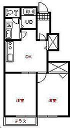 メゾンイーストⅡ 2号館[1階]の間取り