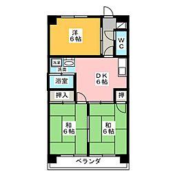 豊島ビル[5階]の間取り
