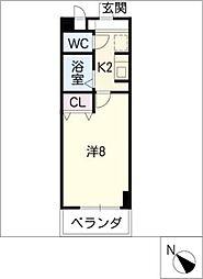 PALACEセジュール瀬戸口[3階]の間取り