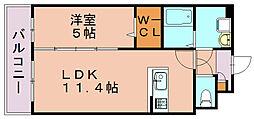 テイルガーデン博多[2階]の間取り