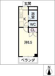 安田学研会館 中棟1[2階]の間取り