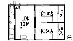 兵庫県宝塚市小浜5丁目の賃貸アパートの間取り