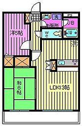 南浦和パインマンション[2階]の間取り
