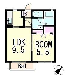 メゾンガーデン1[2階]の間取り