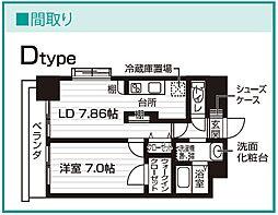 Nasic仙台東口[712号室号室]の間取り
