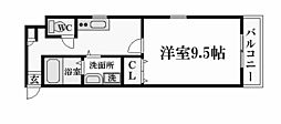 TAT LYON 西宮[2階]の間取り