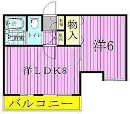 ジュネコーポ八ヶ崎[2階]の間取り