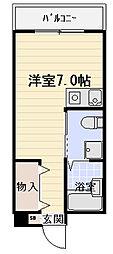 Kマンション[211号室]の間取り