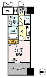 都営浅草線 蔵前駅 徒歩4分の賃貸マンション 12階1Kの間取り