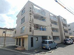 岡山県岡山市北区横井上の賃貸マンションの外観