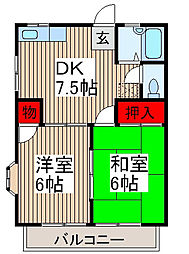 コーポさくら[2階]の間取り