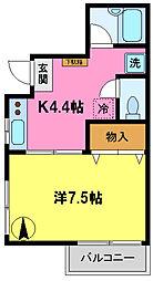 オフィスM[2階]の間取り
