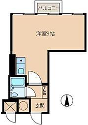 東京都新宿区上落合1丁目の賃貸マンションの間取り