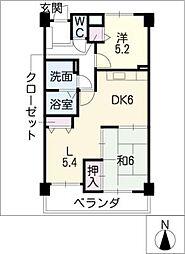 マンション城土[1階]の間取り