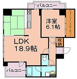 ザ・クロスメント[10階]の間取り