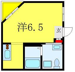 フェリーチェ三ノ輪 3階ワンルームの間取り