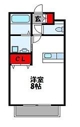 ロングハウス明香[107号室]の間取り