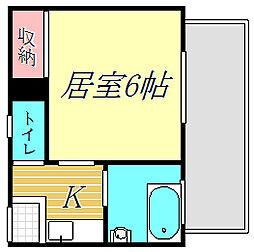 木村マンション[4階]の間取り