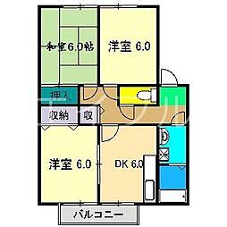 メゾンドール宮地B棟[1階]の間取り