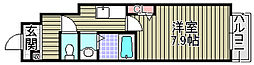 Oakley Terrace 1階1Kの間取り