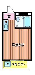 東京都昭島市福島町の賃貸マンションの間取り