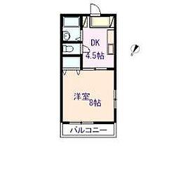 パレス東松江[B206号室]の間取り
