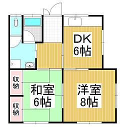 酒井アパート[1階]の間取り