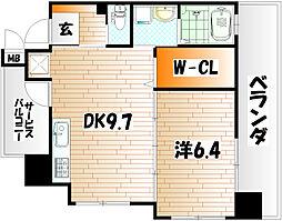 フェルト127[6階]の間取り