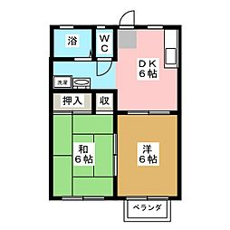 アーバンハイツII[2階]の間取り