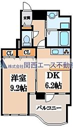 GRAZIO日本1[5階]の間取り
