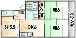 プレジール小野 B棟[2階]の間取り