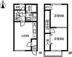 [テラスハウス] 愛知県稲沢市桜木1丁目 の賃貸【/】の間取り