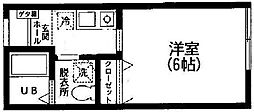コーポ片平[205号室]の間取り
