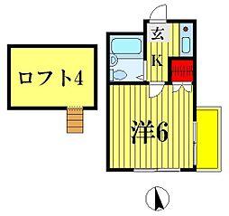 レオパレス松戸第6[201号室]の間取り