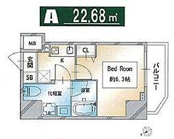 都営三田線 西巣鴨駅 徒歩3分の賃貸マンション 3階1Kの間取り