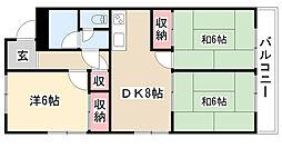 愛知県名古屋市南区元桜田町3丁目の賃貸マンションの間取り