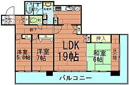 ライオンズマンション大阪スカイタワー[6階]の間取り