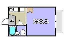 幸ハイツ壱番館[2階]の間取り