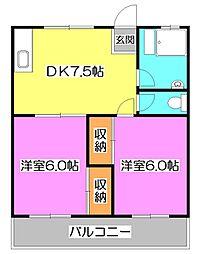 三原台スカイハイツ[5階]の間取り