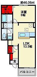 メゾングラースVI[1階]の間取り