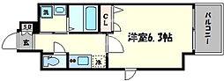 ファーストステージ心斎橋EAST 9階1Kの間取り