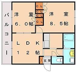 ベルエポック桜川[1階]の間取り