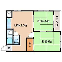 静岡県静岡市葵区本通の賃貸マンションの間取り