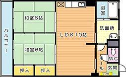 ブルーハイツ萩原(分譲賃貸)[3階]の間取り