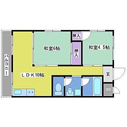 第3宗田マンション[2階]の間取り