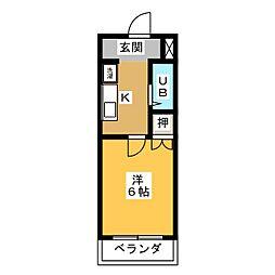 マンション伊藤[3階]の間取り