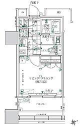 ローレルタワールネ浜松町 2階1Kの間取り