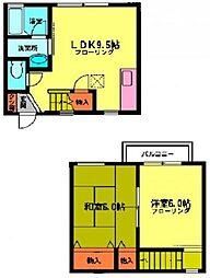 [テラスハウス] 神奈川県相模原市中央区上溝 の賃貸【/】の間取り