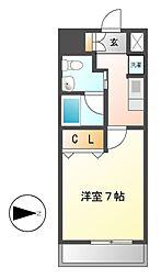 レジディア鶴舞[5階]の間取り
